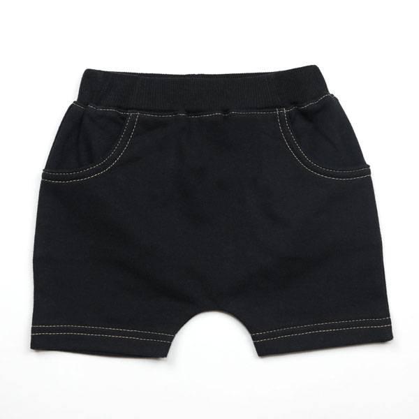 Kapital K Black Baby French Terry Pull-On Short