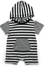 Kapital K B&W Double Stripe Double Knit Pocket Romper