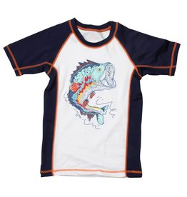 Wes And Willy Freshwater Fish Rashguard Midnight