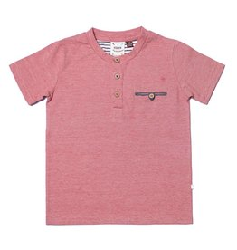 Fore!! Axel & Hudson S/S Red Mini Stripe Knit Henley