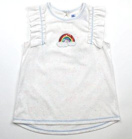 Kapital K Confetti Ruffled Tank Top Rainbow Patch