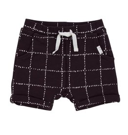 Miles Baby Dark Grey Windowpane Baby Shorts