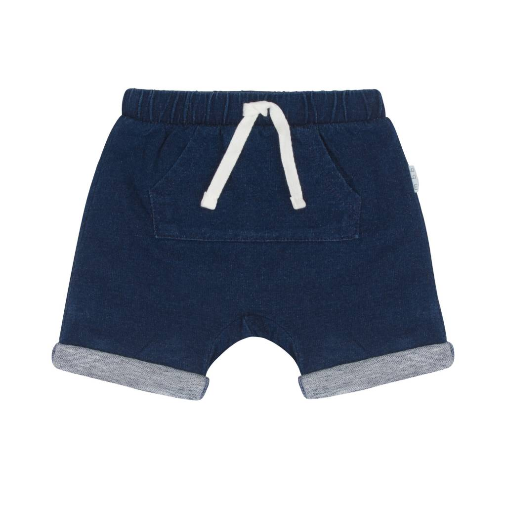 Miles Baby Navy Blue Front Pocket Unisex Baby Short