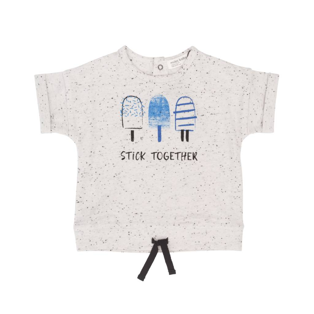 Miles Baby Stick Together Blue Popsicles Tee Off-White