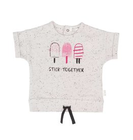 Miles Baby Stick Together Pink Popsicles Tee Off-White