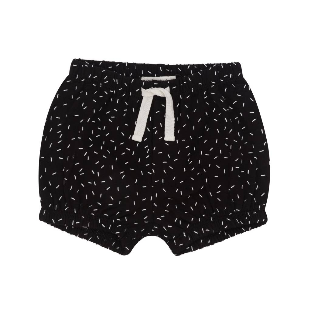 Miles Baby Baby Girl Short Black/White Sprinkle Pattern