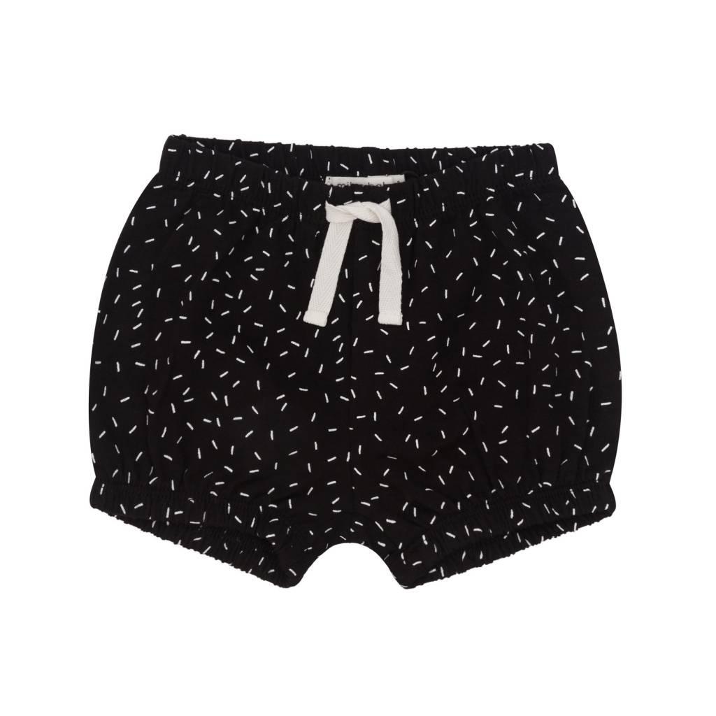Miles Baby Baby Girl Short Black/White Sprinkle Pattern
