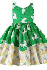 Little Miss Marmalade Unicornland Dolores Park Dress Green
