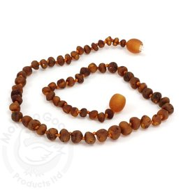 Momma Goose Products Ltd Amber Necklace Unpol. Cognac
