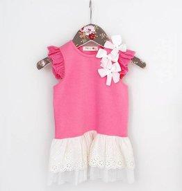 MaeLi Rose Tunic and Capri Set Hot Pink