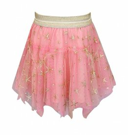Truly Me Pink Skirt w/ Gold Starfish Detail