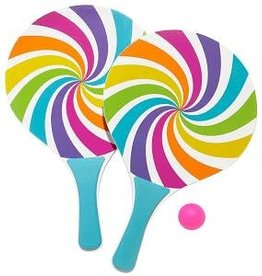 Three Cheers for Girls! Candy Swirl Paddle Ball Set