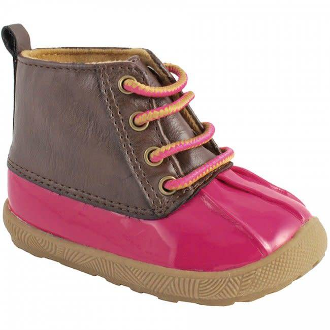 Trimfoot Co. Fuchsia/Brown Duck Boot