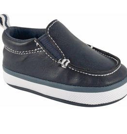 Trimfoot Co. Navy Slip On w/Elastic Gore