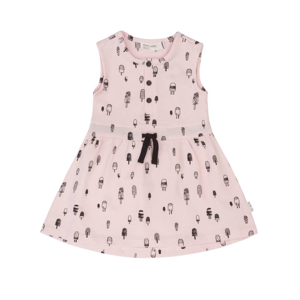 Miles Baby Light Pink Baby Dress Tiny Popsicle Print