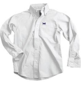Wes And Willy LS Oxford Shirt White