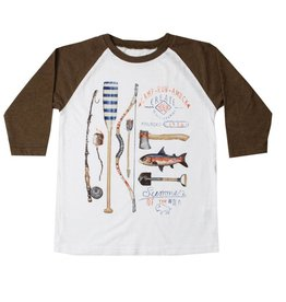 Wes And Willy 3/4 SL Raglan Summer Wild Coffee
