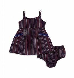 Splendid Cami Dress Set Chambray Navy Stripe