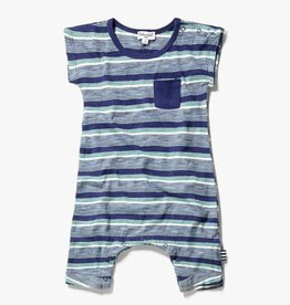Splendid Pocket Onesie Stripe Indigo Sky