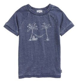 Splendid Indigo Sky Palm Tree Burnout Tee