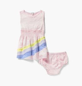Splendid Rainbow Dress & Bloomer Ballerina Pink