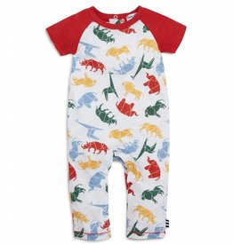 Splendid Onesie SS Raglan Red Sequoia