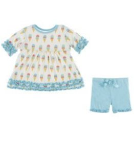 Kickee Pants Babydoll Outfit Nat. Ice Cream