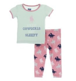 Kickee Pants S/S PJ Pant Set Strawberry Cowgirl