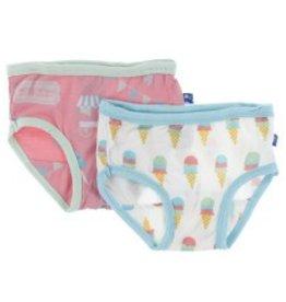 Kickee Pants Girl Underwear (Strawberry Carnival, Nat. Ice Cream)