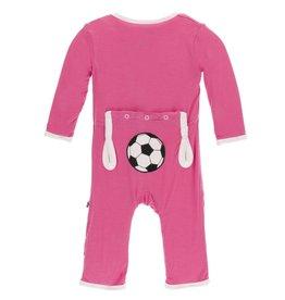 Kickee Pants App. Snap Coverall Flamingo Soccer