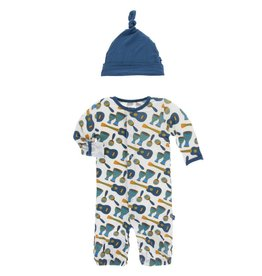 Kickee Pants Converter Gown & Hat Samba