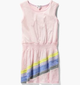 Splendid Rainbow Dress Ballerina Pink