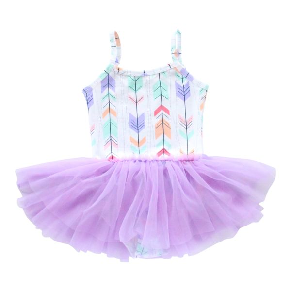 Mila & Rose Lavender Arrow Tutu Leotard