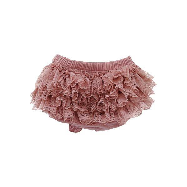 Mila & Rose Mauve Lace Ruffle Bottom Bloomer