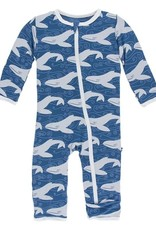Kickee Pants App. Zip Coverall Twilight Whale