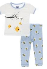 Kickee Pants S/S PJ Set Pond Bees