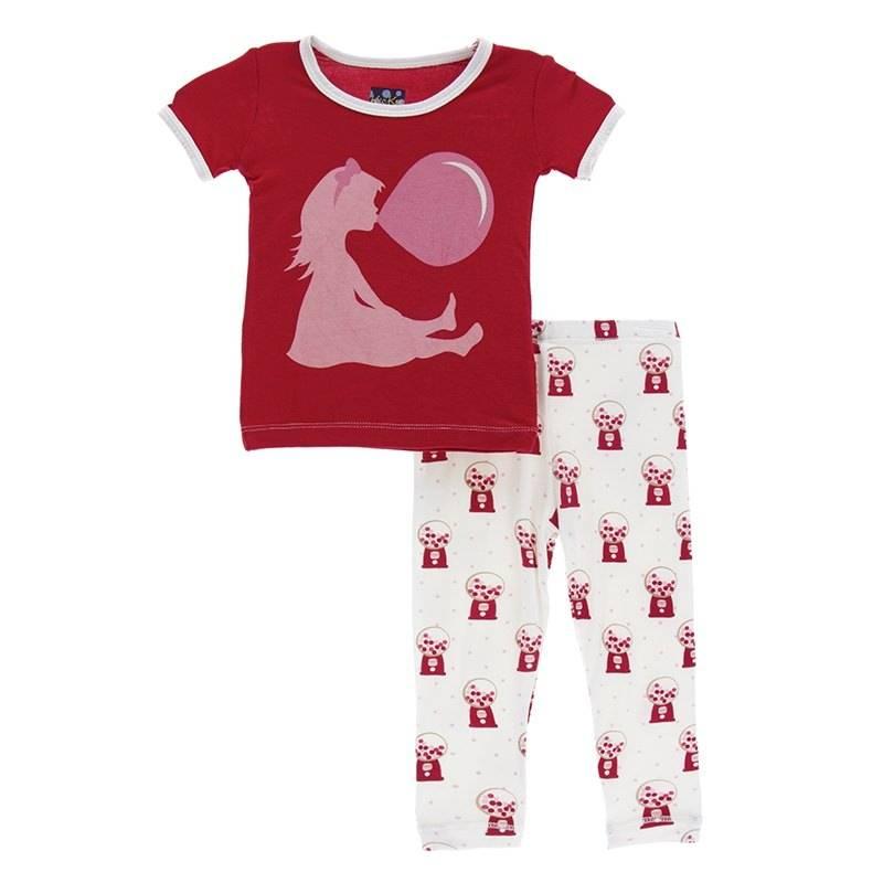 Kickee Pants S/S PJ Short Set Nat. Gumball