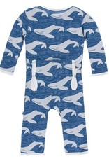 Kickee Pants Snap Coverall Twilight Whale