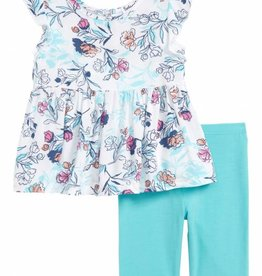 Splendid 2PC Set Floral Print Off-White