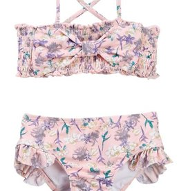 Jessica Simpson 2PC Swimsuit Strawberry Cream Floral