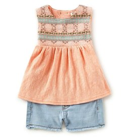 Jessica Simpson Top & Short Set Papaya Punch