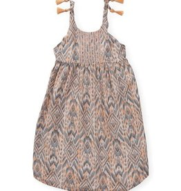 Jessica Simpson Maxi Dress Peach Nectar Ikat