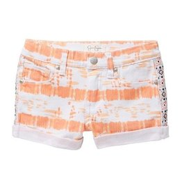 Jessica Simpson Denim Shorts Papaya Punch Tie Dye