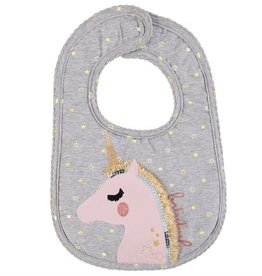 Mud Pie Unicorn Glitter Bib