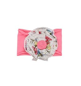 Mimi & Maggie Earth Flowers Headband Pink