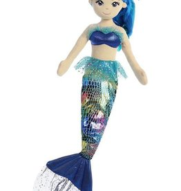 "Aurora 18"" Rainbow Indigo Mermaid"