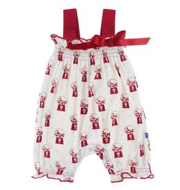 Kickee Pants Gathered Romper Nat. Gumball