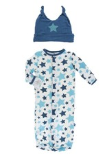 Kickee Pants Layette Sack & Hat Confetti Star