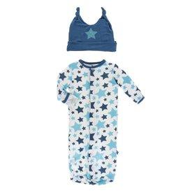 Kickee Pants Layette Sack & Hat Confetti Star