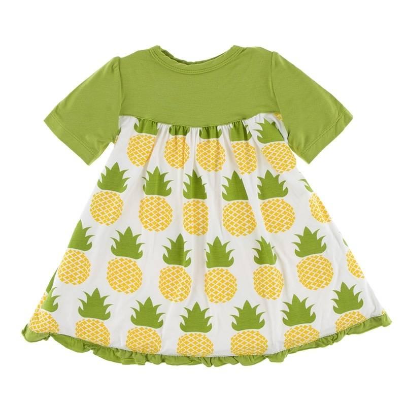 Kickee Pants Classic Swing Dress Nat. Pineapple